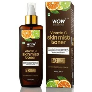 Wow Toner for Oily Skin: No.1 Vitamin C Skin Mist Toner with Lemon Essential Oil, Orange Essential Oil With Hazel & Aloe Vera Extracts