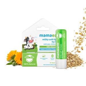 Mamaearth Baby Lip Balm: Milky Soft Natural Lip Balm for Babies with Oats, Milk & Calendula