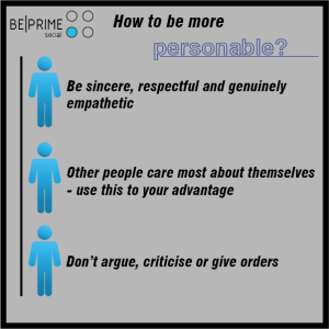 How to be more Personable