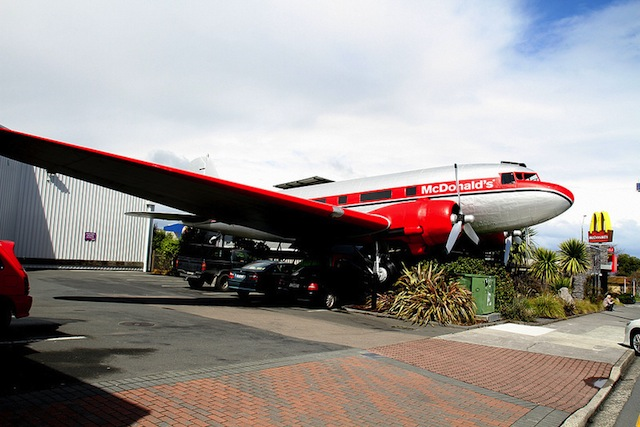 McDonald's Airplane in Taupo, New Zealand