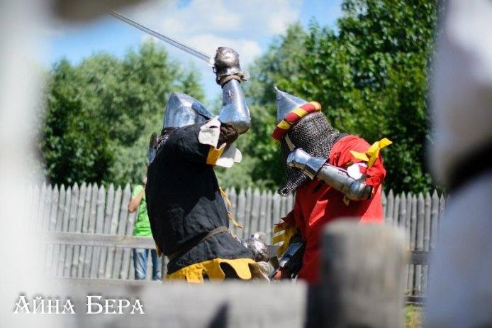 Боевое фехтование в Парке Киевская Русь