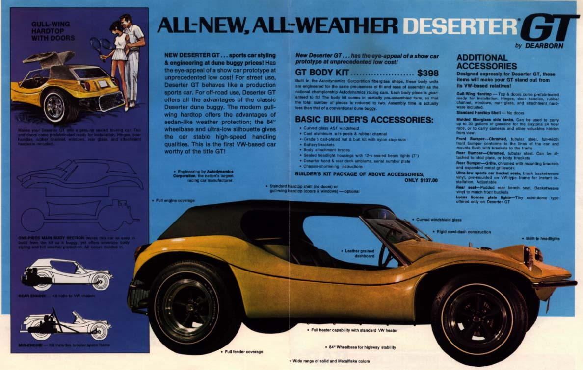 Autodynamics Deserter GT advertisement ca. 1969