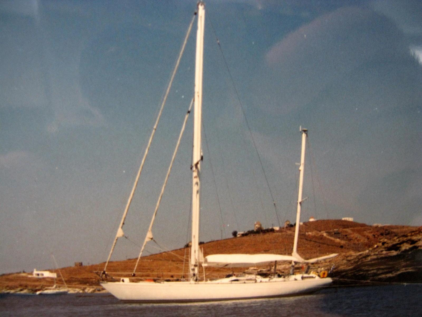 """S/Y Sunny"" a Coala 50 feet cetch built by the Italian Cantieri Navali di Costaguta."