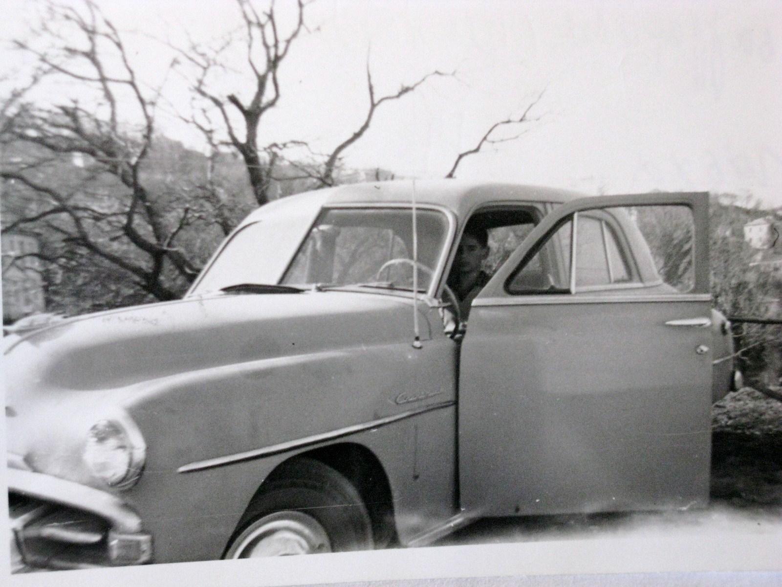 The Plymouth '52 and Byron ca. 1958 in Tsagarada, Pelion.