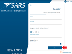 Register for Tax SARS