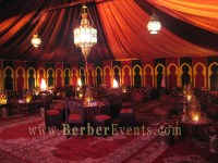 A Moroccan Hookah Lounge Tent at The Mandarin