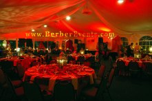The Henna Party was in a tent by the water at the Crowne Plaza Hotel, Hollywood, FL