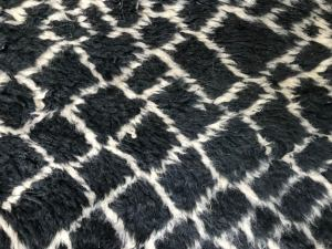 8x11 Black and White Mrirt rug High soft pile moroccan fluffy rug