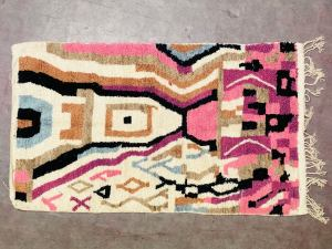 Abstract Morocco rug 4x8 Soft Moroccan lovely beni ourain rug FREE SHIPPING