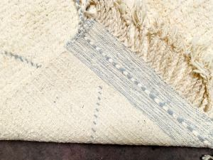 White and Gray Beni ourain rug Wool Area Moroccan rug 5x7 Feet = 152 cm x 233 cm