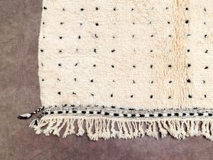 Fatima dotted Moroccan rug 5x7 - Beni Ourain Rug - Handmade Area Rug 5x7 - Authentic moroccan white Berber Carpet