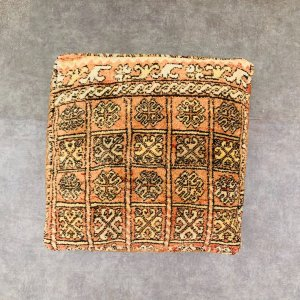 Orange square Floor cushion - Kilim pouf - Berber Moroccan Floor cushion - Seat cushion - armchair - sofa pillow