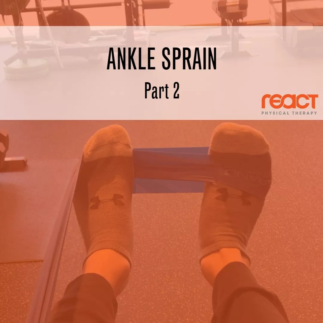 Ankle Sprain Rehab: Part 2