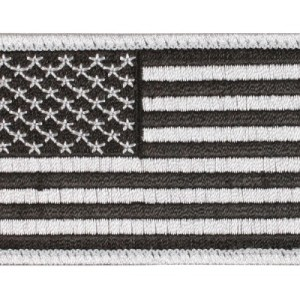 US Flag Patch - Silver
