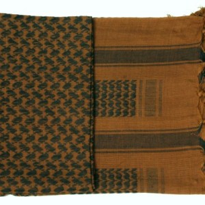Shemagh Scarf Brown/Black