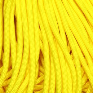 550 Paracord Neon Yellow 100 ft Made in USA