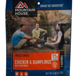 Chicken and Dumplings Freeze-dried Pouched Food or Meal