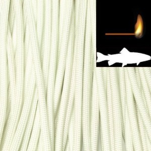 550 Fish & Fire Paracord White Made in USA