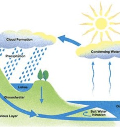 the diagram below shows the water cycle which is the continuous movement of water on above and below the surface of the earth  [ 1428 x 884 Pixel ]