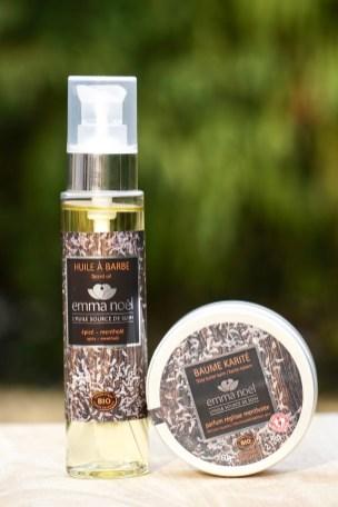 Photo produit -huile à barbe + baume karité réglisse