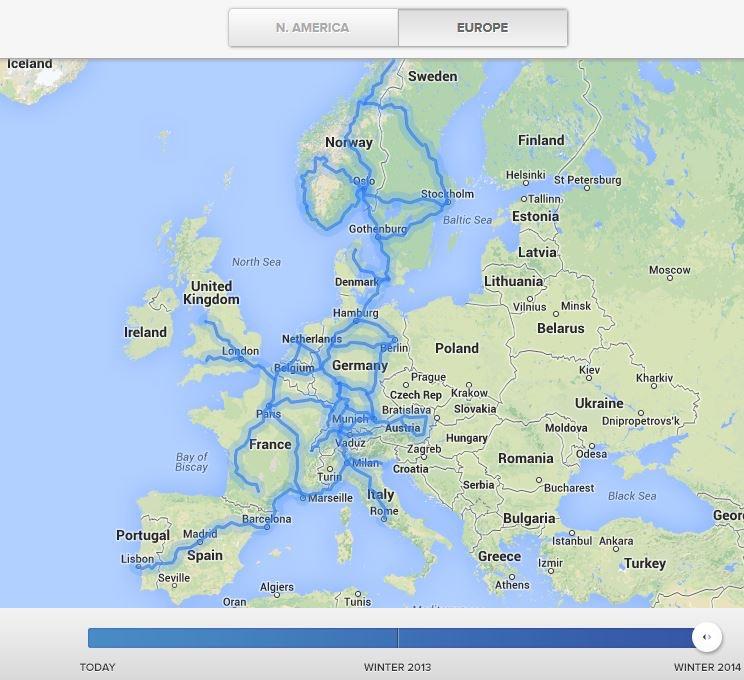 Avrupa'da elektrikli araba hattı