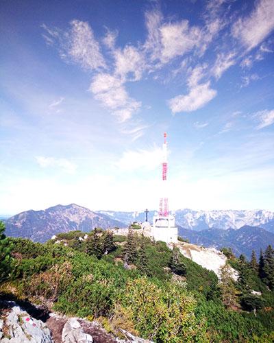 Gipfelkreuz der Katrin im Katergebirge bei Bad Ischl