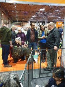 Some of the visitors to the stand