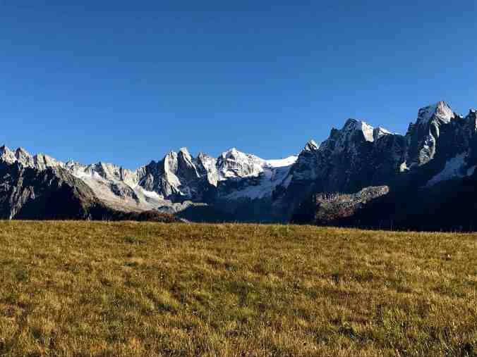 Alp Tombal: nochmals die Sciora-Gruppe, Cengalo und Badile