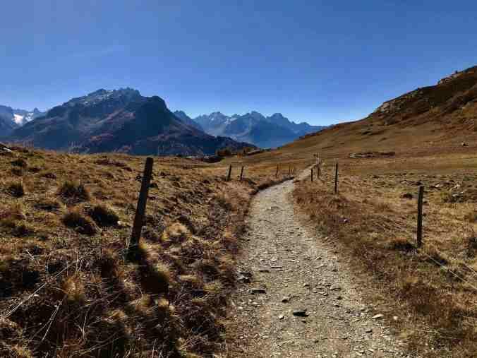 Engadiner Höhenweg zwischen Sils Maria und Maloja