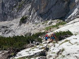 Kletterpassage am Schönen Fleck.