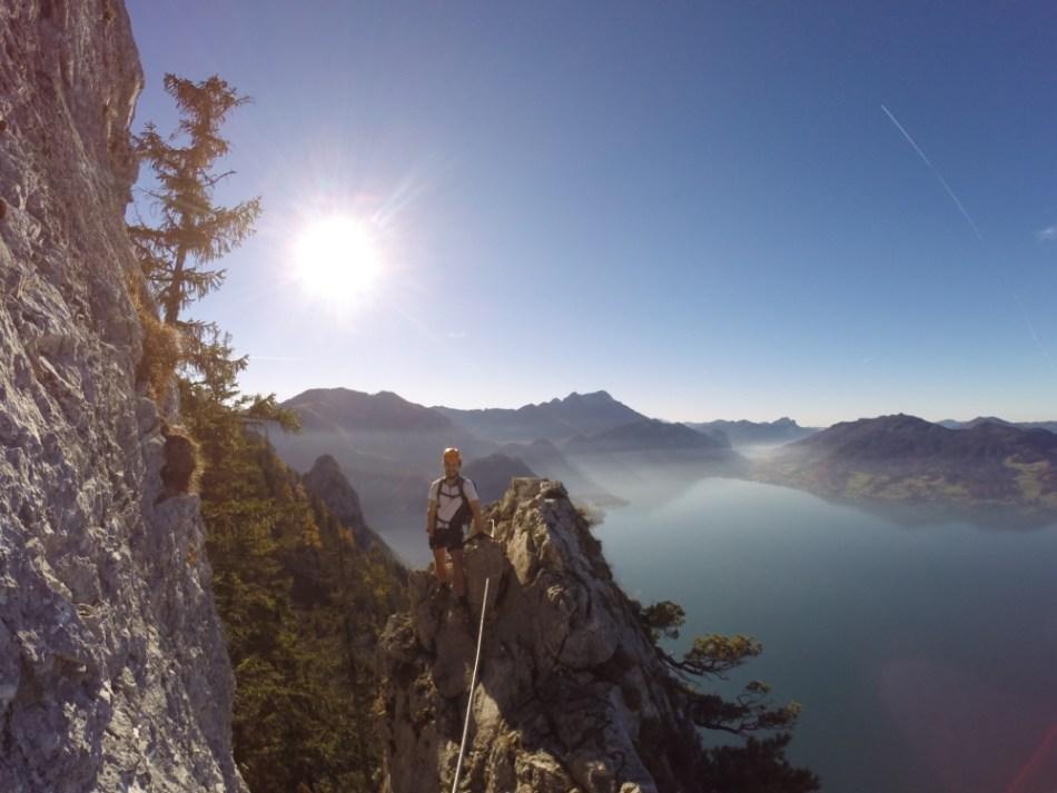 Mahdlgupf Klettersteig Attersee