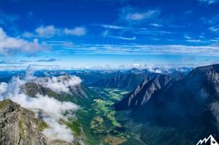 Blick ins Romsdalen.