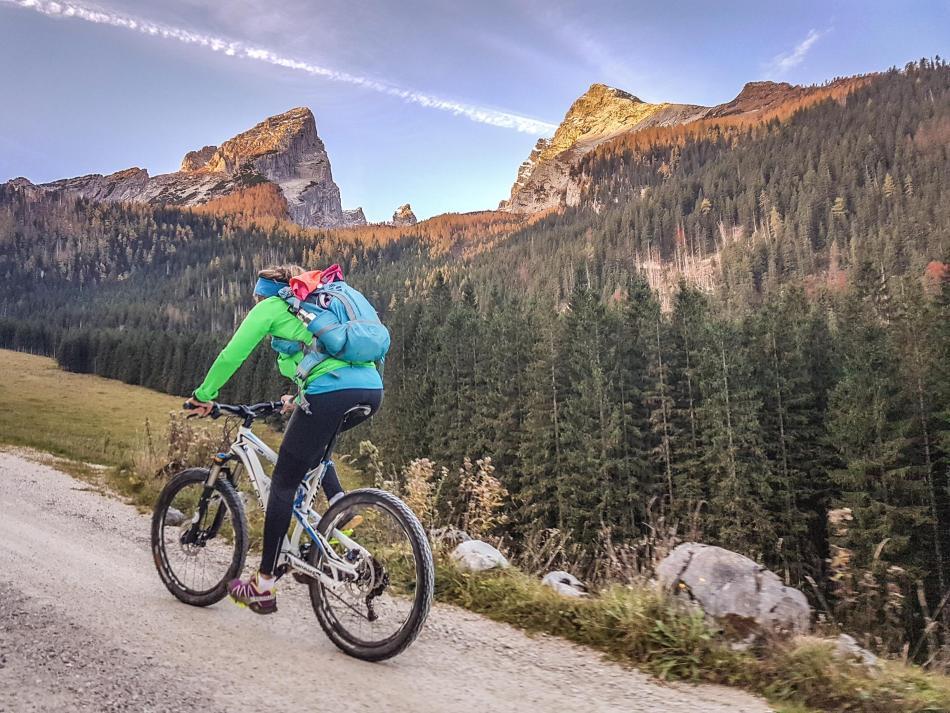 Bike & Hike auf den Mooslahnerkopf über dem Königssee.