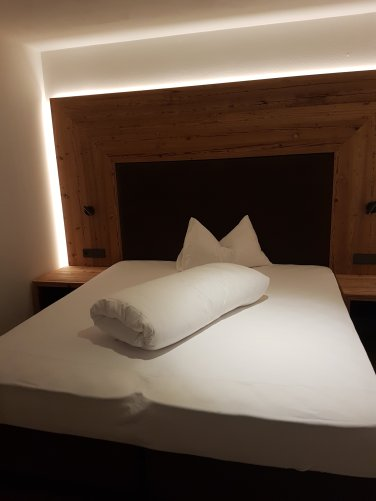 Schlafzimmer im Hotel Adlernest.