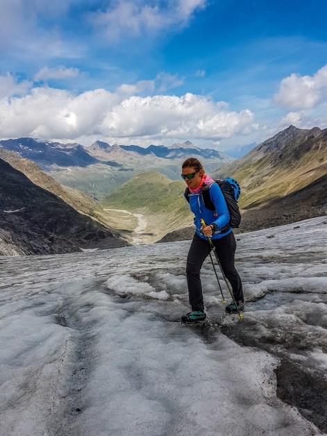Endlich am Gletscher.