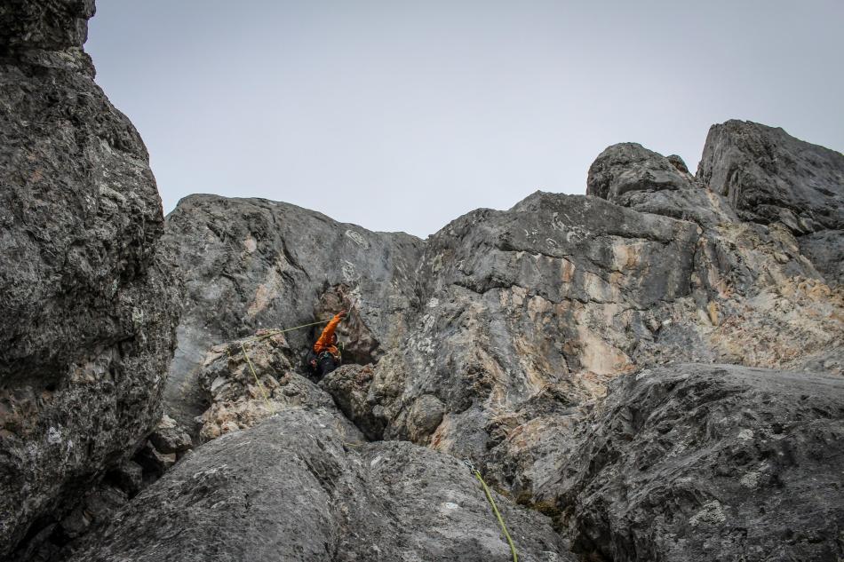 Klettern Werfener Hochthron Südrampe