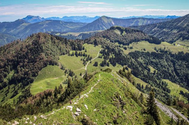 Abstieg vom Schmittenstein.