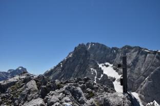 Blick vom Gipfel auf den Hochkalter
