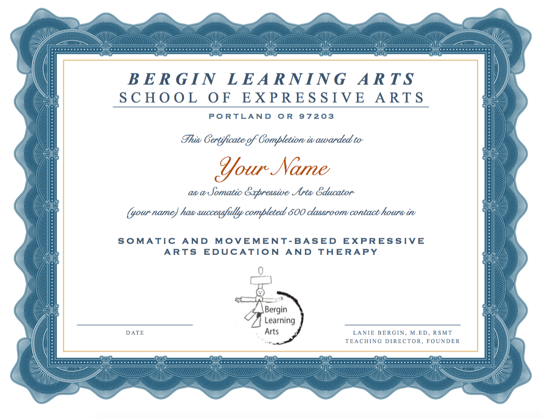 Pdx Exa 500 Hour Embodied Expressive Arts Training Program Bergin