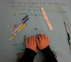 Children process --helping them to make sense of achievement and creative will