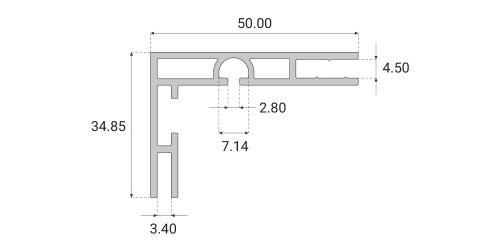 Profil kasetonowy Back-Frame 50