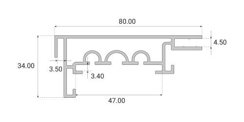 Profil kasetonowy Back-Frame 80