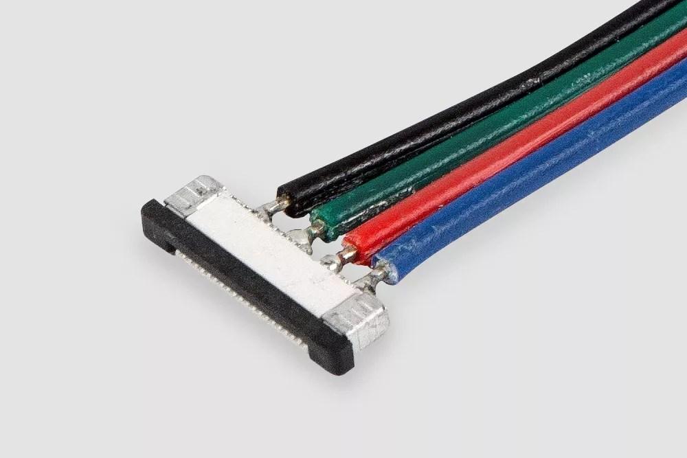 Złączka do taśmy LED RGB z przewodem
