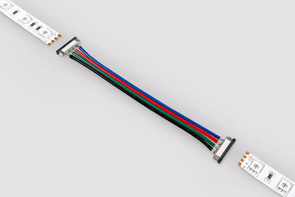 Złączka RGB dwustronna z przewodem