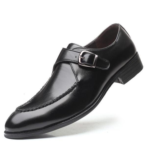 Men leather shoes Italian style formal business elegant