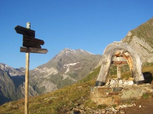 Kreuzung oberhalb Schneidalm