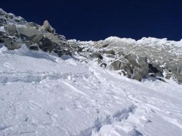 Einstieg Gipfelrinne