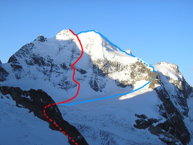 Piz Roseg (3937m) Nordostwand