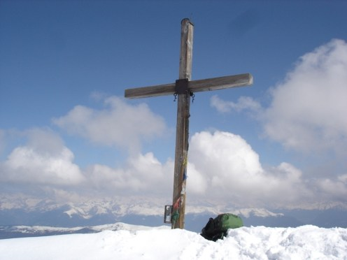 Gipfelkreuz vom Peitlerkofel