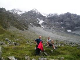 Beim Aufstieg auf die Payerhütte